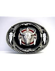 Buffalo Skull Boucle avec ... Dreamcatcher Indian Spirit