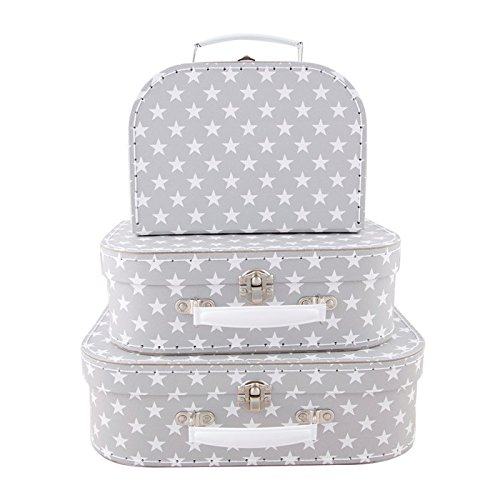 Sass & Belle Nordic Star Suitcases Set of 3 [Importación inglesa]
