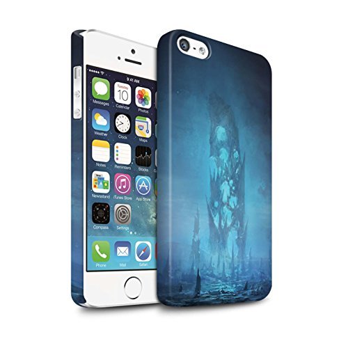 Offiziell Chris Cold Hülle / Matte Snap-On Case für Apple iPhone 5/5S / Pack 12pcs Muster / Fremden Welt Kosmos Kollektion Rest