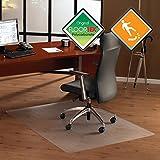 Floortex Bodenschutzmatte | Bürostuhlunterlage 'anti-rutsch unomat' | 120 x 150 cm | aus Original-Floortex-Polycarbonat | transparent | rechteckig | TÜV zertifiziert | für polierte & glatte Böden | sehr niederflorige Teppichböden und Teppichfliesen