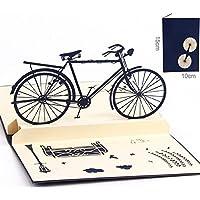 BC Worldwide Ltd Handmade 3D pop-up card vintage blu bicicletta compleanno festa del papà festa della mamma Scuola di Pasqua iscrizione laurea matrimonio anniversario lui