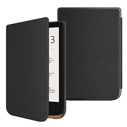 Fintie Hülle kompatibel für Pocketbook Touch HD 3 / Touch Lux 4 / Basic Lux 2 e-Book Reader - Ultradünne Schutzhülle mit Auto Aufwachen/Schlaf Funktion und Magnetverschluss, Schwarz
