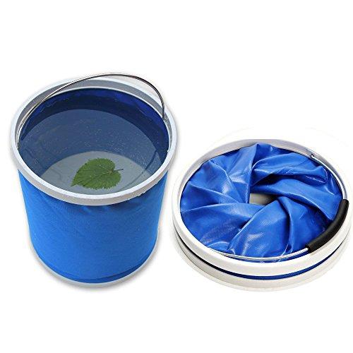 Cubo plegable Cubeta de agua portátil Multiuso - Apto para acampar, Deportes al aire libre, Uso doméstico, Cubo de agua para lavado de autos Capacidad de 11L - Ligero y fácil de transportar