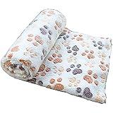 gossipboy Paw Diseño manta cojín del animal doméstico pequeño perro gato cama caliente suave alfombrilla de dormir cachorro de gato suave manta de perro cojín de huellas de cálido cama de matrimonio alfombrilla