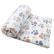 gossipboy Paw Design Couverture Coussin pour animaux Petit Chien Chat Lit doux et chaud Tapis de Sommeil chiot chaton Couverture douce Doggy Tapis de lit chaud Empreintes de pattes Coussin