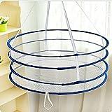 asentechuk Doble Plegable Ropa Calcetines de viento , tendedero cestas colgantes - Cesto para ropa interior de malla de secado