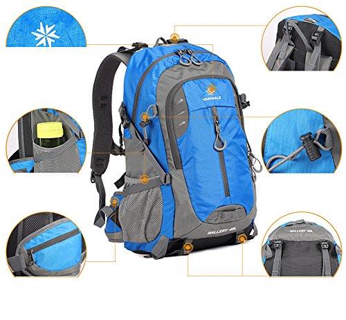Outdoor peak Unisex Nylon impermeabile Ultra Sport zaino da escursionismo pioggia Huelle Trekking Zaino Borsa da viaggio borsa per Laptop Zaino Borsa Alpinismo arbeites 40liter, rosa (rosa) - M-CORNER verde militare