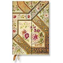 Paperblanks - Blumenpracht Bukett Elfenbein - Kalender 2018 Mini Wochenüberblick Horizontal - deutschsprachige Ausgabe
