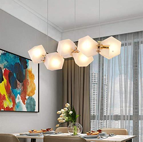 Pendelleuchte /Moderne Anhänger Deckenleuchte Shade /Lampenschirm Hängeleuchte Anhänger, 6 kopf kronleuchter Restaurant Postmodernen Glas Lampe kreative persönlichkeit kombination bar led Licht
