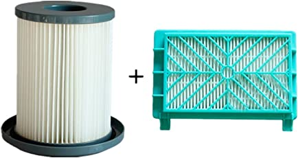 Meijunter Dust Filter Cartridge+Exhaust Filter Net for Philips FC8732/8734/8736/8738/8740, Replacement Vacuum Cleaner Dust Filter Cup HEPA Filter Mesh Kit