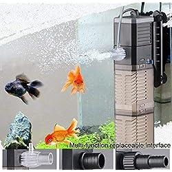LONDAFISH Réservoir de Poissons Pompe à Eau 3-en-1 Pompe Submersible Pompe à Eau pour réservoir de Poissons 8W 20W 25W (CHJ-902/20W)
