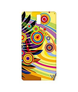 Vogueshell Multicolour Pattern Printed Symmetry PRO Series Hard Back Case for Oneplus One