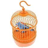 #10: Segolike Voice Control Electric Simulation Sing Move Cage Bird Kid Children Toy Home Decoration Orange