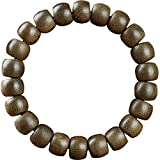 Weiduoli Bracelets en Bois, Bois d'agar Naturel, Unisexe, Corde élastique, Bracelet 12MM 14MM