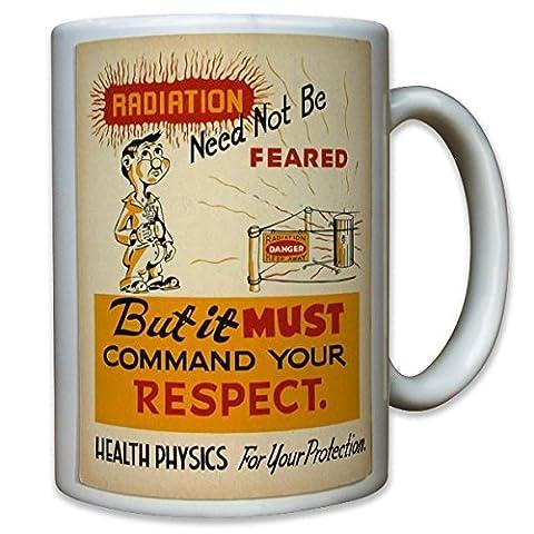 Physiciens physique médicament rayonnements atom atomar laboratoire radiation need not be feared health physics-tasse de café mug#10542