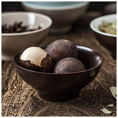 YYF Bol en Céramique Ménager Rice - Bol Simple Créatif Mignon 5 Pouces (12.5 cm) (Color : Black)