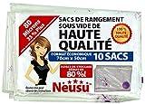 Sacs de Rangement Sous Vide Premium Neusu, Lot de 10 Taille Moyenne 70x50cm