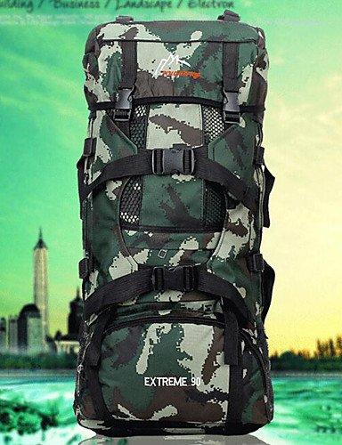 ZQ 75 L Rucksack Camping & Wandern Draußen Multifunktions Grün / Tarnfarben Nylon Other camouflage green