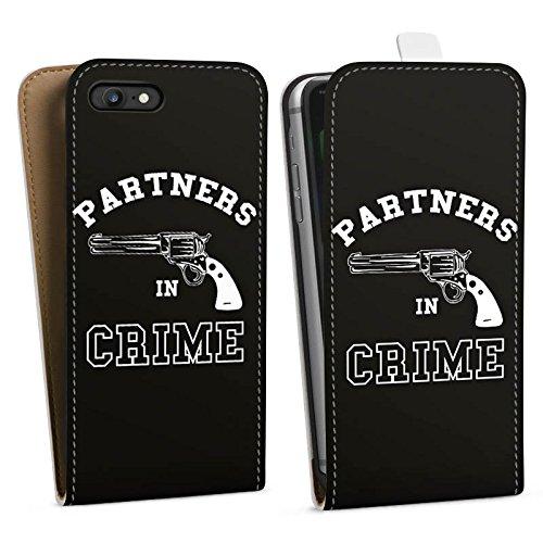 Apple iPhone X Silikon Hülle Case Schutzhülle Pistole Partner freundschaft Downflip Tasche weiß