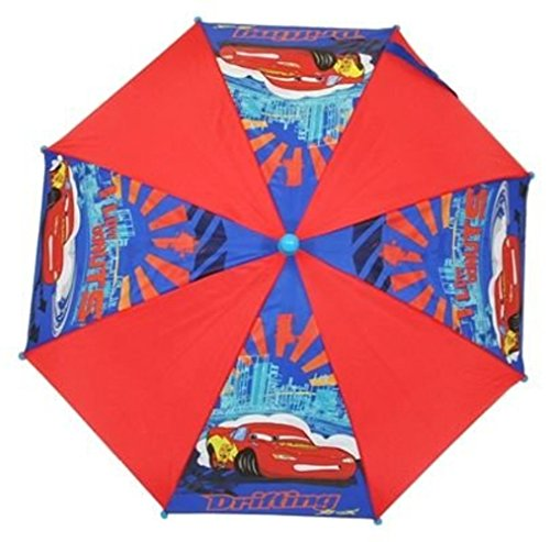 Image of Disney Cars Drifting,umbrella, Lightning Mcqueen Picture, Blue/red, Blue Handle