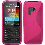 Samrick S Wave Coque de protection en hydrogel pour Nokia 215–Rose
