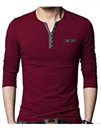 Seven Rocks Men's Buttoned Cotton Tshirt