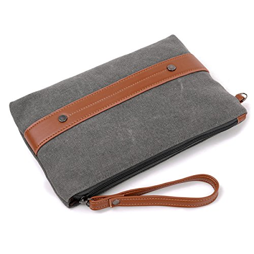 Frauen-Handtasche Retro-Stil Große Kapazitäts-Segeltuch-Schulter-Tasche Darkgray