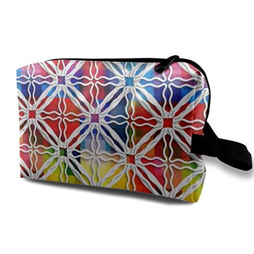 osaik Fliesen über Rainbow_5656 Tragbare Reise Make-Up Veranstalter Multifunktions Fall Taschen für Frauen ()