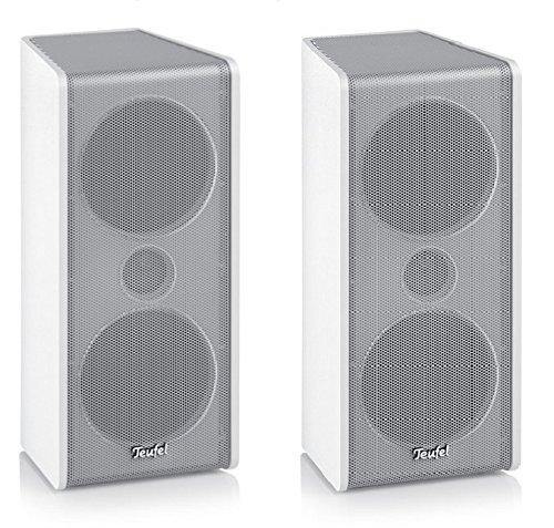 2x Teufel CS35FCR Mk3 Satelliten Lautsprecher aus Consono / Impaq Soundsystem - Weiss