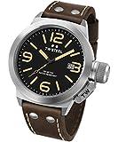 TW Steel Unisex-Armbanduhr Canteen Leather Analog Leder Schwarz CS32
