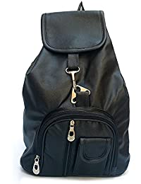 Kaparrow Black Color Trendy Premium Quality PU Leather Casual And Daily Use Women's Handbag And Backpack