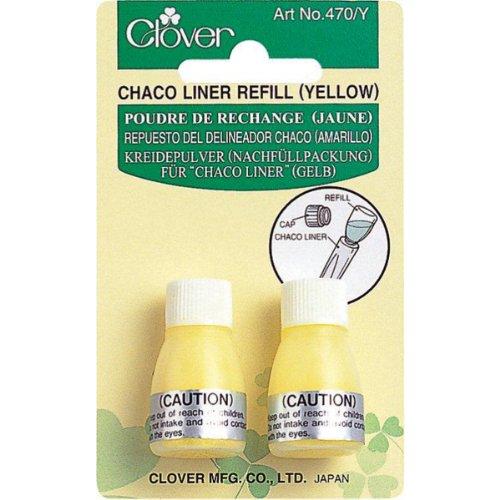 Clover 470/Y Kreidepulver für Chaco-Liner 2 x 2,8 g, gelb (Refill Liner Chaco Clover)