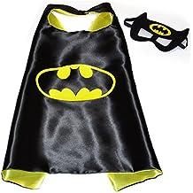 Batman Super Héroes de disfraces para niños–Cape y máscara–Juguetes para niños y niñas–Disfraz para niños de 3a 10años–para Fasching o temática de fiestas. Mungo–King–kmsc005
