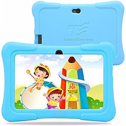 Dragon Touch Tablet PC Android de 7 pulgadas con funda de silicona (azul) - (Allwinner Quad Core 1.2GHz, 8 GB de ROM, Android