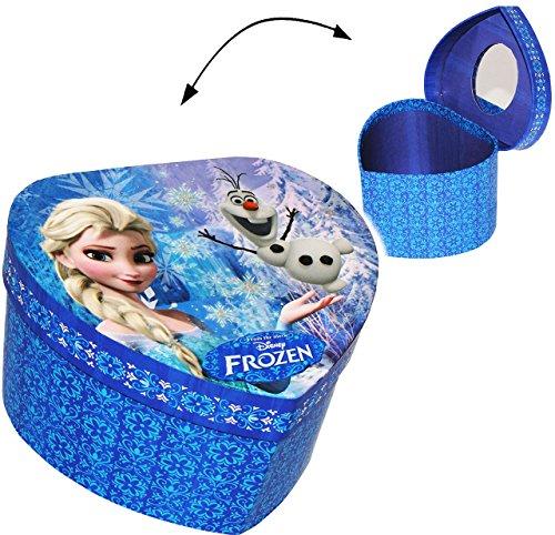 alles-meine.de GmbH Schmuckkasten - mit Spiegel & Glitzer -  Disney die Eiskönigin - Frozen / Her..