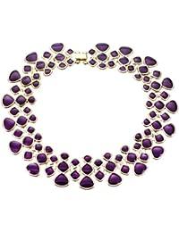 SODIAL(R) Joyeria de Collar de moda joyeria coloridos De esmalte Gargantilla de babero de burbujas Azul
