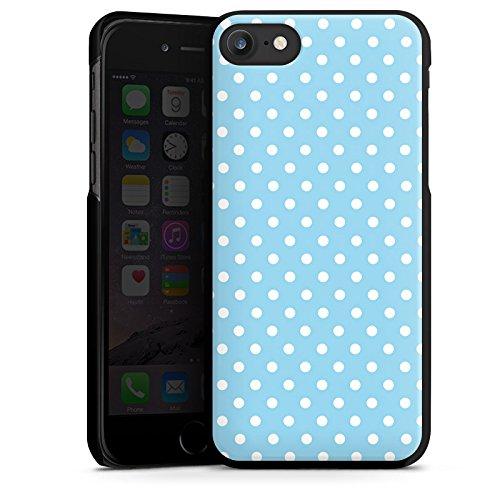 Apple iPhone X Silikon Hülle Case Schutzhülle Punkte Muster Blau Weiß Polka Hard Case schwarz