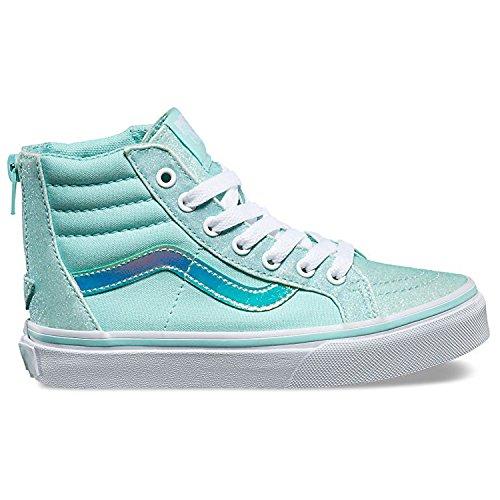 Vans Mädchen Uy Sk8-Hi Zip Hohe Sneakers (Glitter & Iridescent) Blue/True White