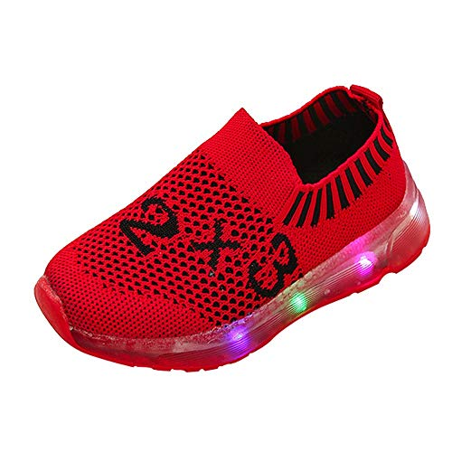 Sonnena Babyschuhe Neugeborenen LED Licht Leuchtend Schuhe Sportschuh Baby Jungen Lauflernschuhe Mädchen Ultra-Light Krabbelschuhe Turnschuhe Lernlaufschuhe Sneaker