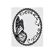 squarex Scrapbook Mirror Design DIY Paper Cutting Dies Scrapbooking Plastic Embossing (White)