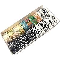 EDGEAM Washi Tape 20 piezas, cinta adhesiva banda decorativa Masking Tape