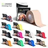 KG | PHYSIO Kinesiology Tape Beige - Uncut Muscle Support Tape - 5cm x 5m roll - 12 colours available! Images are exact photos of our products for accurate colour representation (Beige)