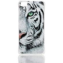 case cover para BQ Aquaris M5,Crisant Tigre blanco Diseño Protección suave TPU Gel silicona Teléfono Celular Back funda Carcasa para BQ Aquaris M5