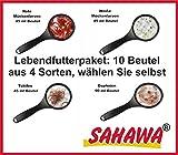 SAHAWA´® Lebendfutterpaket freie Wahl, Rote Mückenlarven, Weiße Mückenlarven, Tubifex, Daphnien (10 Stück)