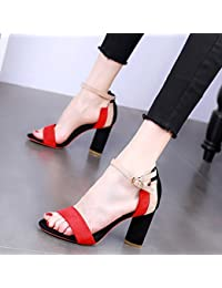 KPHY Scarpe da donna/Con Trasparenza I Sandali Tacchi A Spillo Pantofole Scarpe Sexy 7Cm 36 Nuda Di Colore