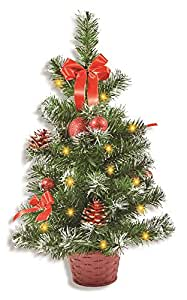 riffelmacher geschm ckter weihnachtsbaum beleuchtet 50cm 20259 rot weihnachtsbaum mit. Black Bedroom Furniture Sets. Home Design Ideas