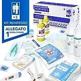 AIESI® kit di reintegro ALLEGATO 1 SENZA SFIGMOMANOMETRO pacco medicazione per cassetta armadietto di pronto soccorso aziende più 3 dipendenti # Conforme DM388/DL81# Made in Italy