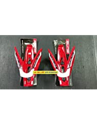 Pair of Elite Custom Race Skin Red - White Bike Water Bottle Cage
