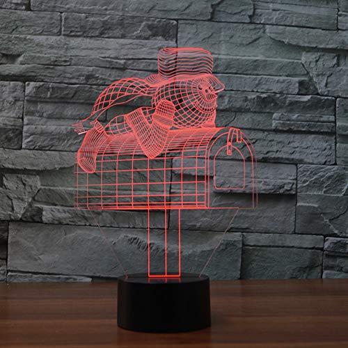 Nachtlicht 3D neben Tischlampe Illusion Form der Mailbox 7 Farben ändern Touch Switch Schreibtisch Dekoration Lampen Geburtstag Weihnachtsgeschenk mit Acryl Flat & ABS Base & USB Kabel - Die Mailbox Der Besten