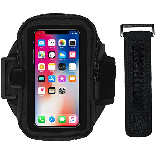 i2 Gear Armband für Iphone 6 6 5 5 s Galaxy S8 S7 S6 S5 passt Otterbox Commuter & Defender Case Schwarz (Otterbox Htc One S)